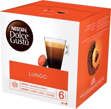 Nescafé Dolce Gusto dosettes de café, lungo, paquet de 16 dosettes