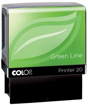 Colop cachet Green Line Printer Printer 20, 4 lignes max., pour les Pays-Bas, ft 14 x 38 mm