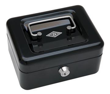 Wedo coffret à monnaie, ft 12,5 x 11,5 x 8 cm, noir