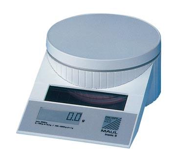 Maul pèse-lettres MAULtronic, pèse jusqu'à 2 kg, intervalle de poids 0,5 g, blanc