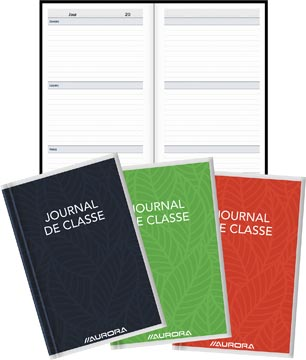 Aurora Bur-O-Class journal de classe ft 10,5 x 16,5 cm, 224 pages, perpétuel