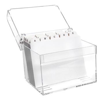 Maul boîte à fiches Acrylique avec index ft A6