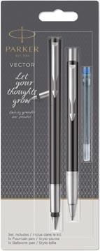 Parker duoset Vector stylo plume + stylo bille, sur blister, en couleurs assorties