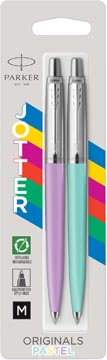 Parker Jotter Originals stylo bille, blister de 2 pièces, pourpre/menthe