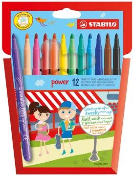 STABILO feutre Power, étui de 12 pièces en couleurs assorties