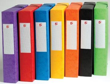 Pergamy boîte de classement, dos de 6 cm, couleurs assorties