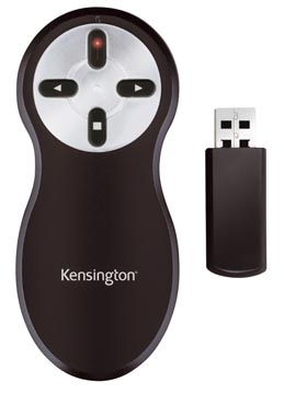 Kensington wireless presenter avec pointeur laser sans carte mémoire