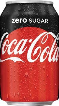 Coca-Cola Zero boisson rafraîchissante, canette de 33 cl, paquet de 30 pièces
