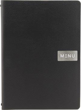 Securit protège-menu leather Raw, ft A4, noir