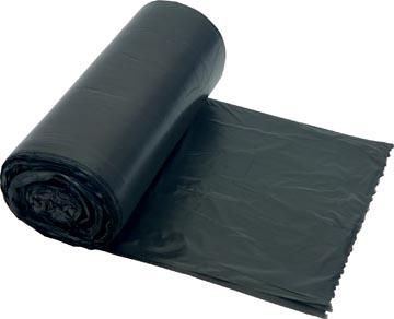 Sac poubelle 25 microns, ft 60 x 90 cm, gris, rouleau de 20 pièces