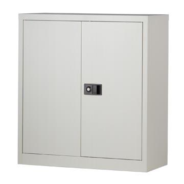 Bisley armoire à portes battantes, ft 100 x 91,4 x 40 cm (h x l x p), 1 tablette, gris
