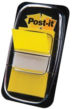 Post-it Index standard, ft 25,4 x 43,2 mm, jaune, dévidoir avec 50 cavaliers