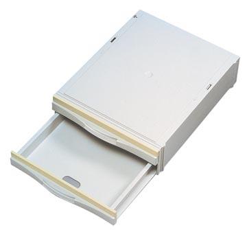 Atlanta cassette de rangement, avec 2 tiroirs mi-hauts, ft intérieur 3,5 x 25,2 x 34,5 cm