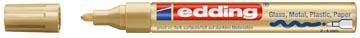 Edding marqueur peinture, e-750 CR, or