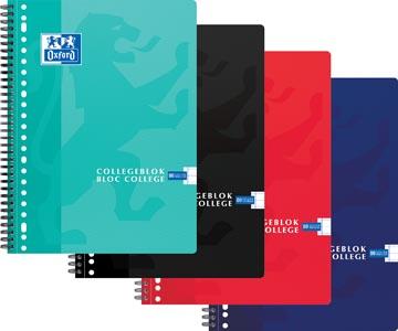 Oxford bloc de cours collège, couleurs assorties, ft A4+, 80 feuilles, ligné