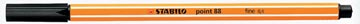STABILO point 88 fineliner, noir