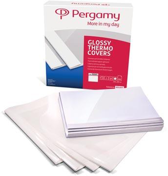 Pergamy couvertures thermiques ft A4, 3 mm, paquet de 100 pièces, blanc