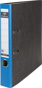 Pergamy classeur, pour ft A4,en carton, dos de 5 cm, marbré, bleu