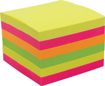 Pergamy z-notes accordéon, ft 76 x 76 mm, couleurs assorties, paquet de 6 blocs
