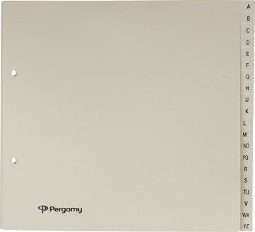 Pergamy intercalaires ft 21 x 23 cm, perforation 2 trous, chamois, A-Z avec 20 onglets