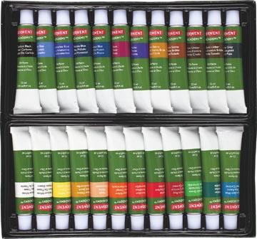 Derwent peinture à l'huile Academy , 12 ml, blister de 24 tubes en couleurs assorties