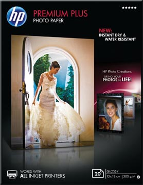 HP Premium Plus papier photo ft 13 x 18 cm, 300 g, paquet van 20 feuilles, brillant