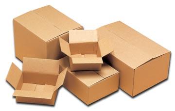 Boîte d'expédition, ft 19,5 x 17 x 9,8 cm, brun