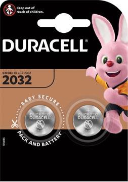 Duracell piles bouton Electronics, DL/CR 2032, 3 volt, blister 2 pièces