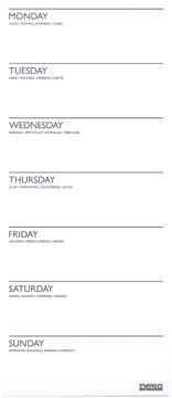 Desq planning magnétique par semaine, ft 15 x 35 cm