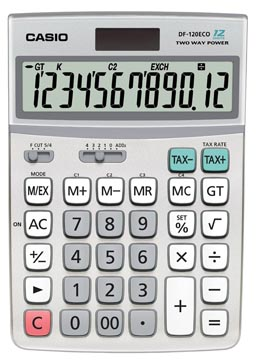 Casio calculatrice de bureau DF-120 ECO