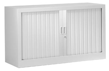 Armoires à rideaux, hauteur 69,5 cm, gris clair