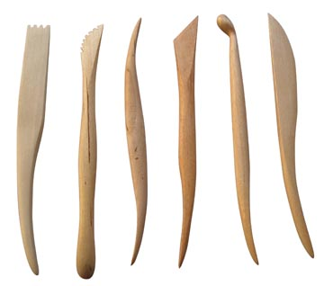 Spatule de modelage, set de 6 pièces