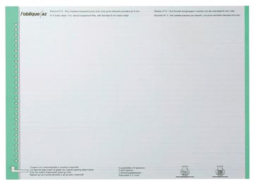 Elba étiquettes dossiers suspendus pr tiroirs vert, 1 feuille avec 27 étiquettes