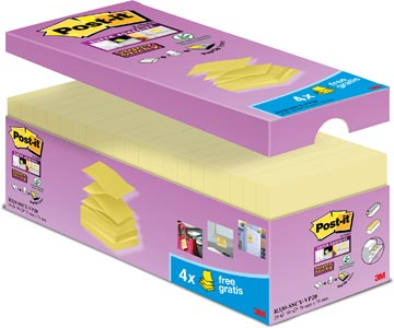 Post-it Z-Notes, paquet avantageux jaune, 16 + 4 GRATUIT