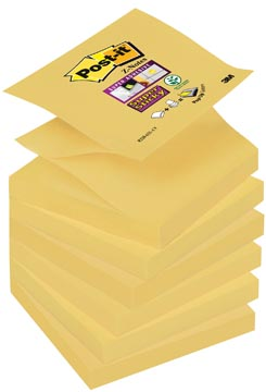 Post-it Super Sticky Z-Notes, ft 76 x 76 mm, jaune, bloc de 90 feuilles