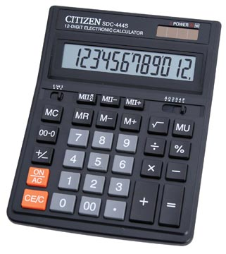 Citizen calculatrice de bureau, SDC-444S, noir