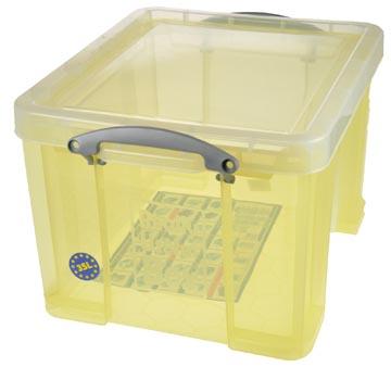 Really Useful Box boîte de rangement 35 l, jaune transparent
