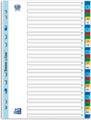 OXFORD intercalaires, format A4, en PP, 11 trous, onglets colorés, jeu 1-31