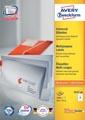 Avery Zweckform 3427, étiquettes universelles, Ultragrip, blanc, 200 feuilles, 105 x 74 mm