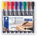 Staedtler marqueur permanent Lumocolor 350, boîte de 8 pièces en couleurs assorties