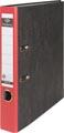 Pergamy classeur, pour ft A4,en carton, dos de 5 cm, marbré, rouge