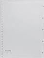 Pergamy intercalaires, ft A4, perforation 23 trous, PP gris, set 1-5